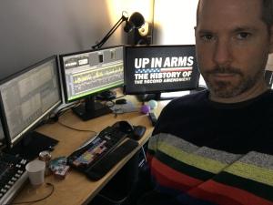 Jeremy Presner, in the editing bay